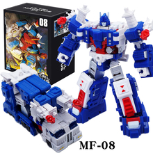 שינוי G1 אולטרה מגנוס מפקד MFT MF 08 MF08 כיס מלחמת KO פעולה איור רובוט ילד אוסף צעצועים