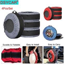 Dsycar 4 Stks/set 30Inch Diameter Auto Afneembare Reservewiel Cover Case Auto Wiel Banden Opbergzakken Voertuig Band Accessoires nieuwe