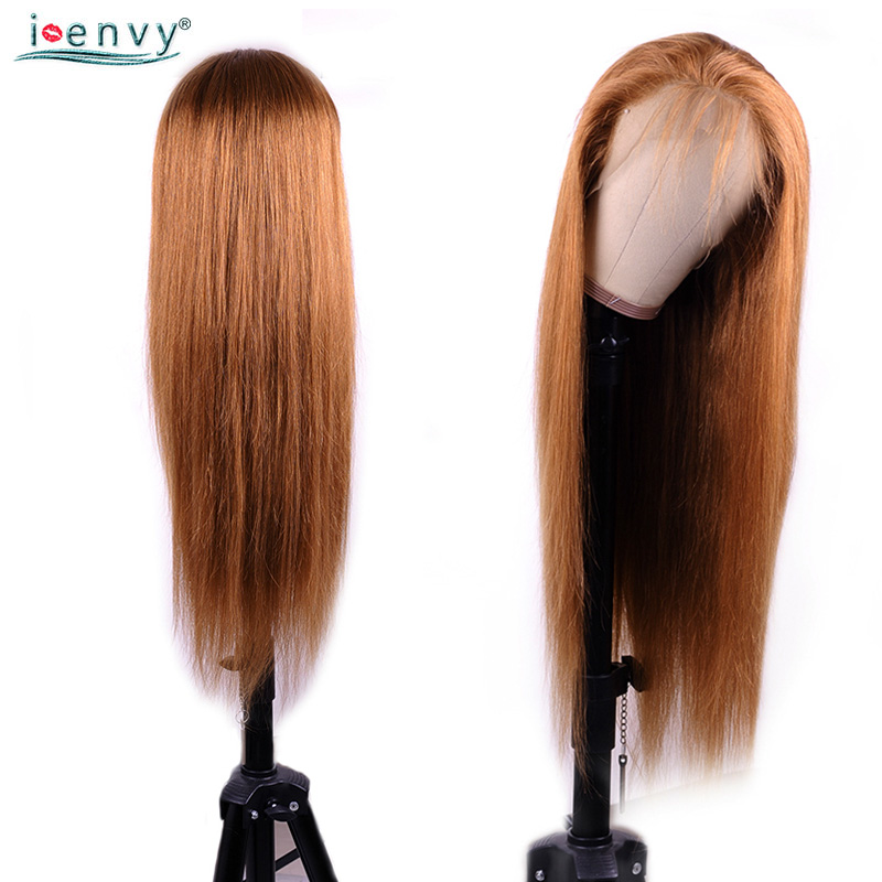 H5936fd6f92774a4c9b3e1e41ca9f495dn #30 Gold Blonde Lace Front Human Hair Wigs Brazilian Straight 13*4 Lace Front Wig PrePlucked Baby Hair Colored Lace Wigs NonRemy