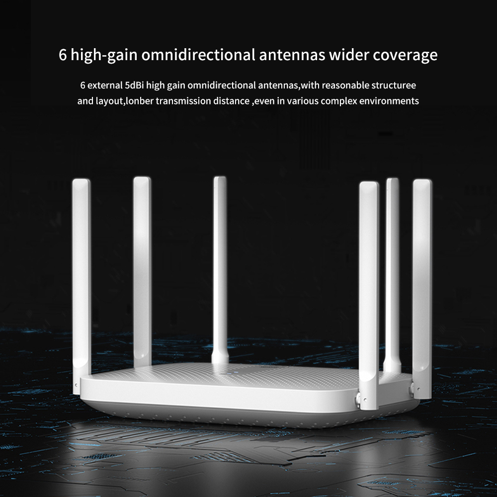 Xiaomi Redmi AC2100 Wireless Route Gigabit 2.4G 5.0GHz Dual-Band 128M RAM Coverage External Signal Amplifier Repeater PPPOE 3