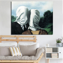 Surrealism Abstract Masked Couple Canvas Painting Print Living Room Home Decoration Modern Wall Art Oil Painting Posters Picture surrealism