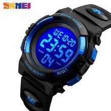 SKMEI الأطفال LED الإلكترونية ساعة رقمية كرونوغراف ساعة الرياضة الساعات 5Bar مقاوم للماء الاطفال المعصم للبنين بنات