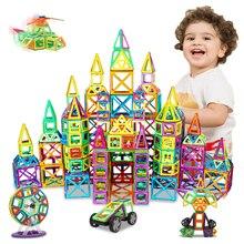 DIY Big Size Magnetic Blocks Magnetic Designer Construction Set Model Building Toys Plastic Magnets Building Blocks For Children
