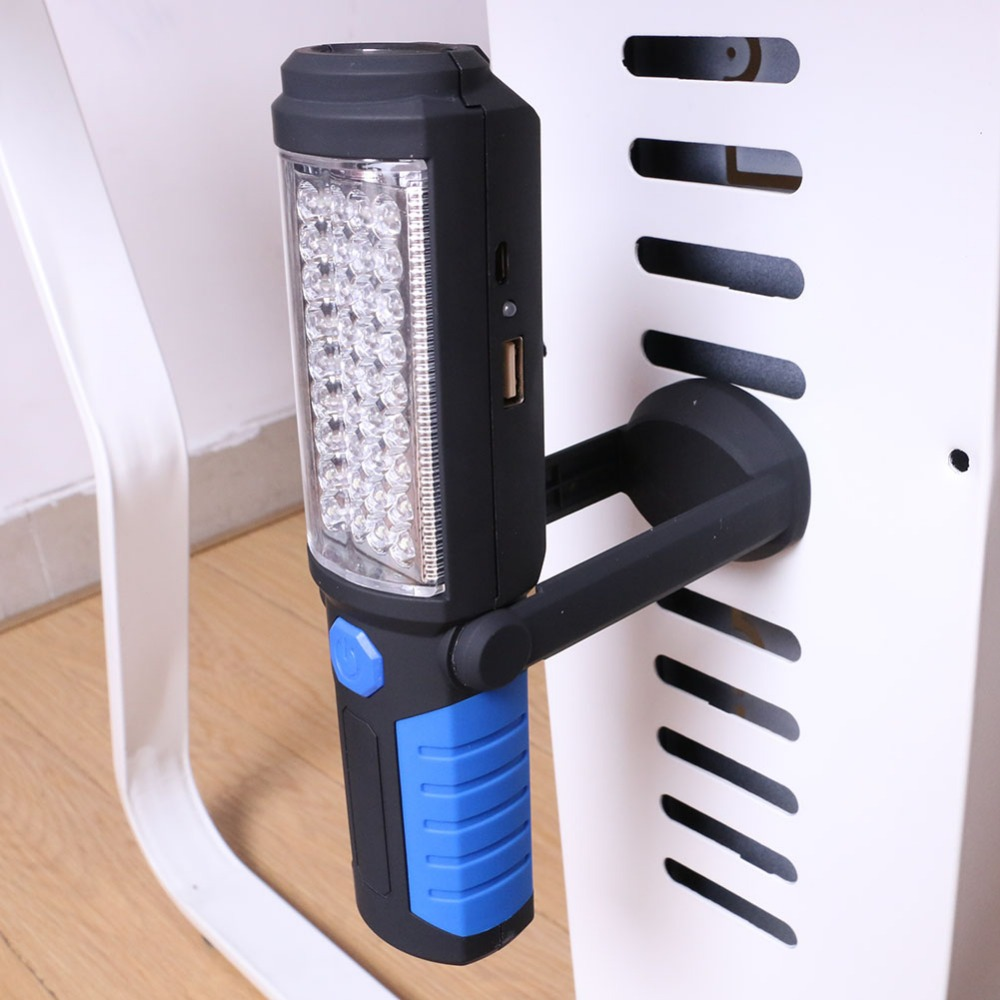Купить с кэшбэком USB Charging/3*AA 36+5LED Magnetic Work Hand Flashlight Emergency Inspection Work Torch Light Hook Magnet Portable Lanterns