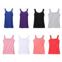 Womens Sleeveless Tank Top U Neck Slim Lace Trim Candy Color Basic Camis Vest