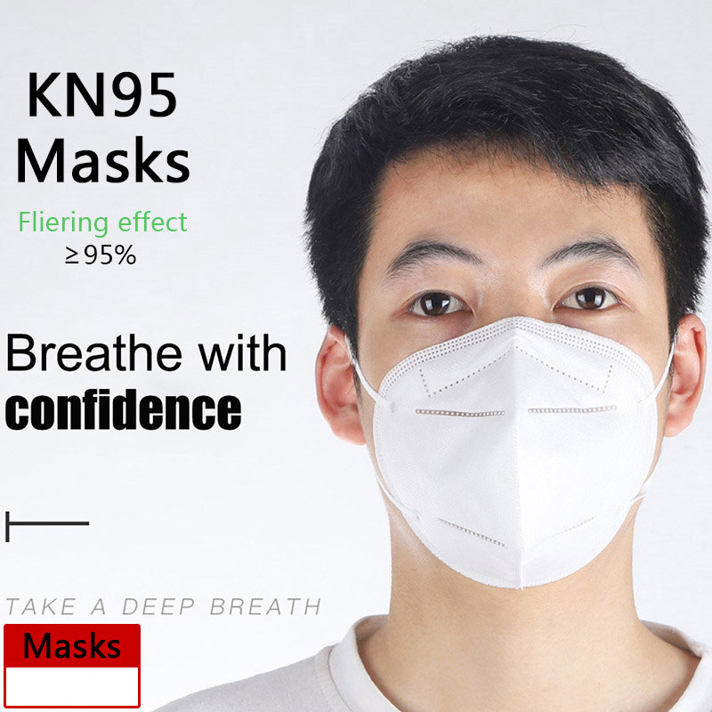 White Adjustable Anti PM2.5 Dustproof Air Pollution KN95 Face Mask Outdoor Cycling Camping Workplace Protective Mouth N95 Masks