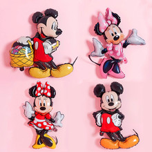 1 pcs Mickey Minnie Mouse Balloon Cartoon Foil Birthday Party Decorations Baby Shower Kids Favor Gifts