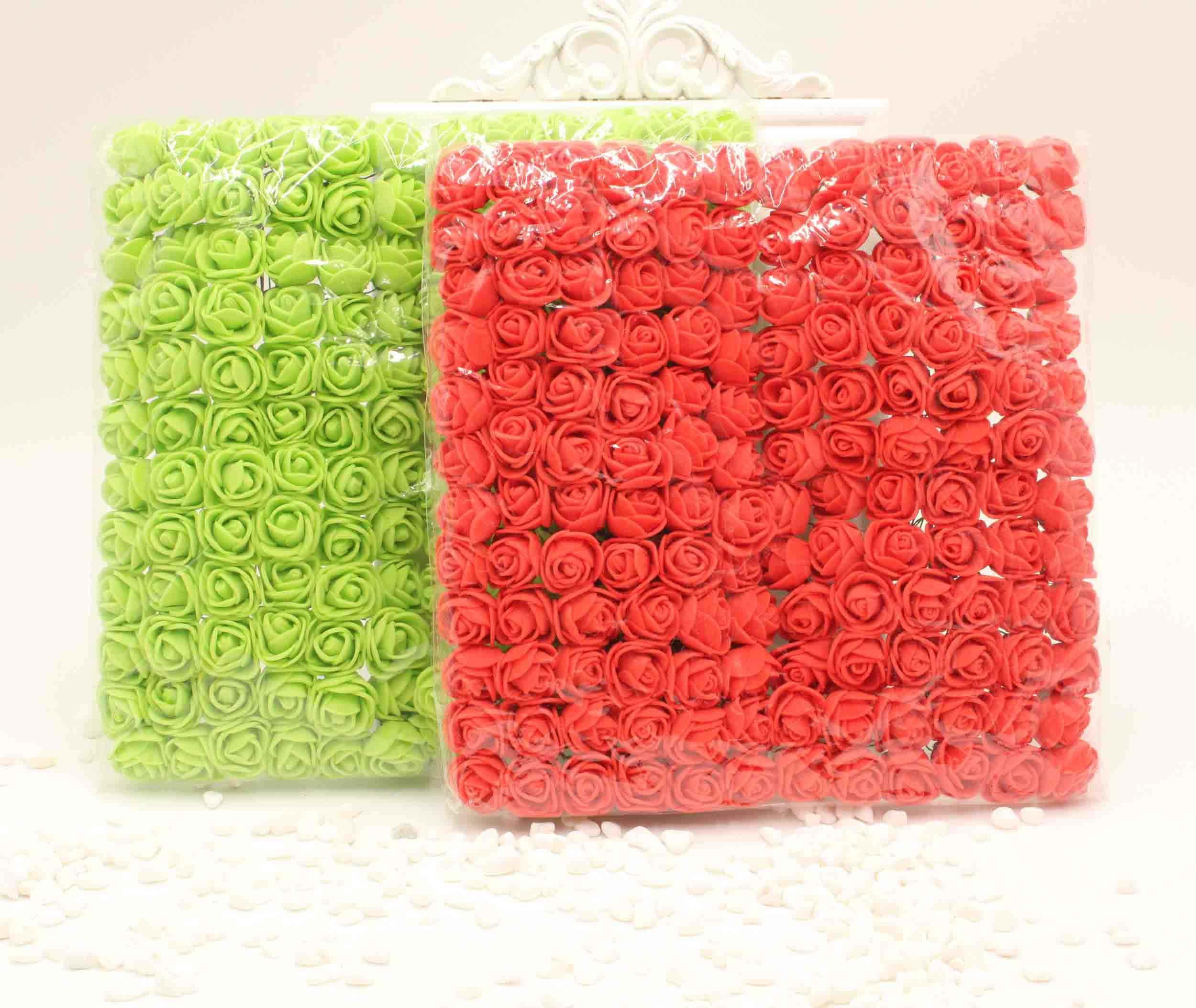 144 stücke 2 cm MINI schaum rose künstliche bouquet rose bär hochzeit weihnachten wand blume dekoration sammelalbum gefälschte rose