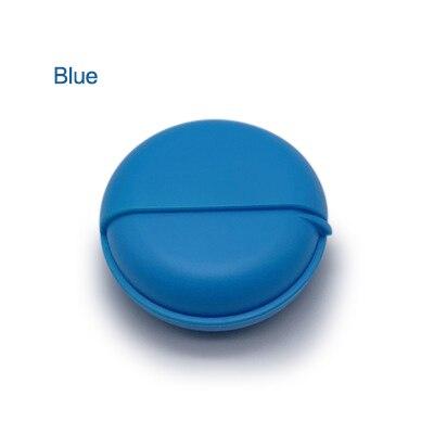 Проводная коробка для наушников, органайзер, кабель для передачи данных, чехол для хранения, круглый пластиковый контейнер, ювелирные изделия, защита для наушников с Вращающейся Крышкой - Цвет: blue