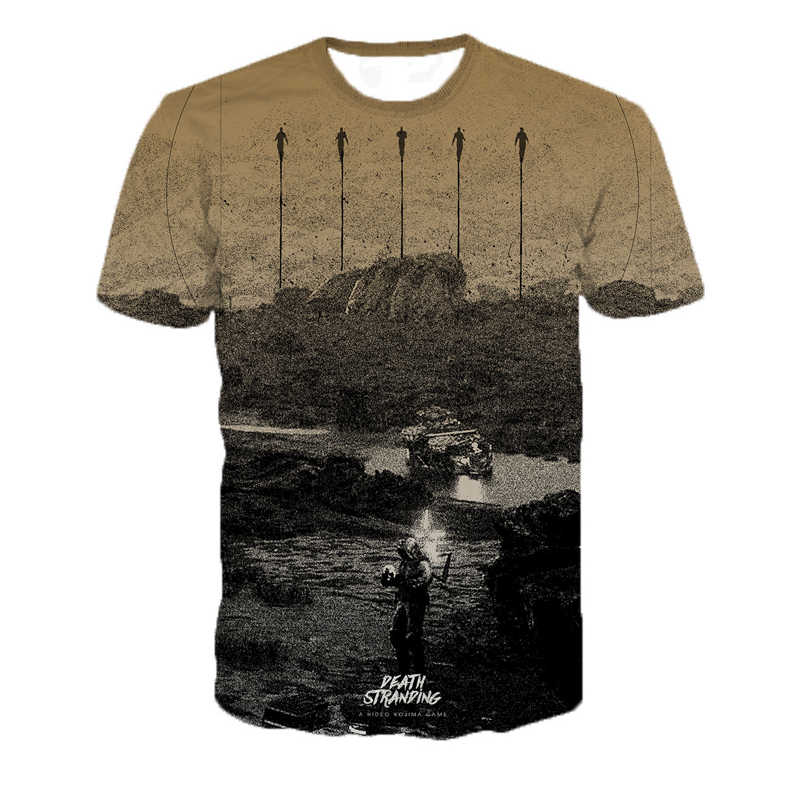 ホット販売ゲーム死座礁 Tシャツユニセックスヒップホップ Tシャツ 3D プリントブラックフライデープルオーバー男性服ドロップシッピング/ 卸売