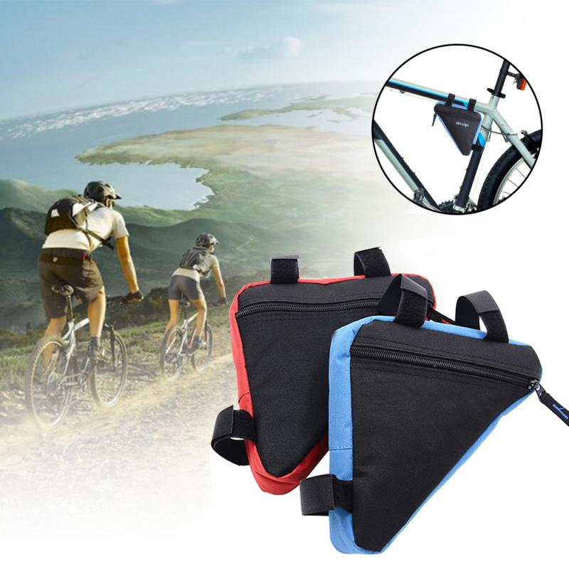Outdoor Cycling Bicycle Front Triangle Mountain <font><b>Bike</b></font> Frame Bag Mountain <font><b>Bike</b></font> <font><b>Equipment</b></font> Bag Waterproof Tube Bag image