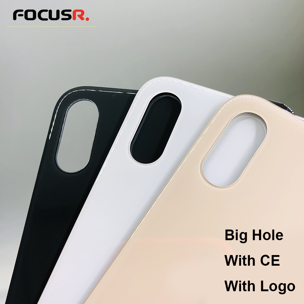 Europe Version Big Hole Back Cover With CE Case Rear Battery Cover For IPhone X Back Glass Replace XS XS MAX Phone Cases Housing