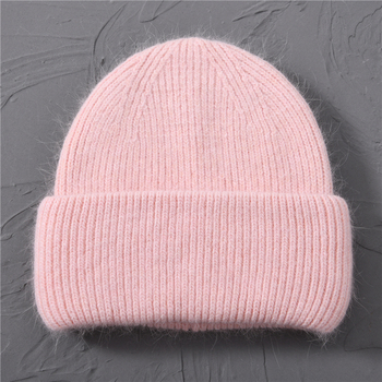 Casual Women's Hats Cashmere Wool Knitted Beanies Autumn Winter Brand New Three Fold Thick 2020 Knitted Girls Skullies Beanies 19