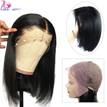 Kiss Mee Pixie Cut Bob Lace Front Human Hair Wigs 13*4 Short For Black Women Remy Straight Peruvian Closure