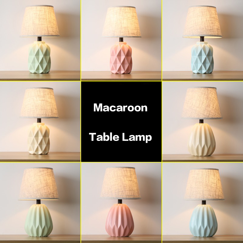 modern table lamp for living room bedroom bedside lamp ceramics decorated study nordic led table lamps LED Table Lamps     - title=