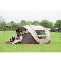 Portable 3 4 Person Outdoor Automatic Tents Large Family Tent Waterproof Camping Hiking Tent For Outdoor Camping