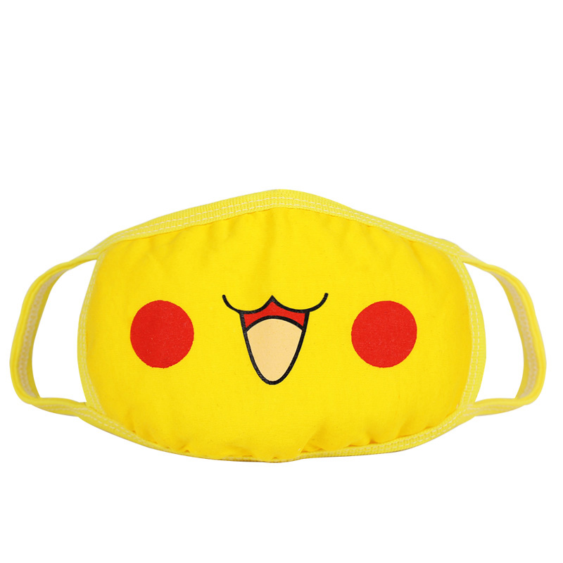 Anime Pokemon Pocket Monsters Pikachu Cosplay Mouth-muffle Kawaii Anti-Dust Winter Face Mask