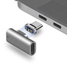 9 핀 마그네틱 USB 타입 C 어댑터 USB 3.1 480Mbps 날짜 전송 속도 100W 빠른 충전 Pixelbook 호환