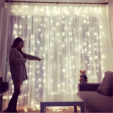 Light-String Garland-Lights Decorative Curtain Remote-Control Copper-Wire Bedroom Wedding