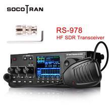 SOcotran RS 978 SSB hf SDR راديو HF هام الإرسال والاستقبال 1.8 30MHz 10 واط هام sdr راديو hf مع 3800mAh بطارية ليثيوم أيون حزمة
