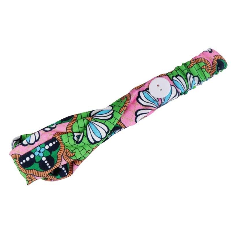 Женская спортивная повязка на голову на пуговице для йоги Boho Paisley, повязка для волос с цветочным узором, защита ушей, M7DD, Аксессуары