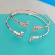 925 sterling silver lady bracelet sweet romantic letter gift, luxury fashion jewelry bracelet Christmas gift