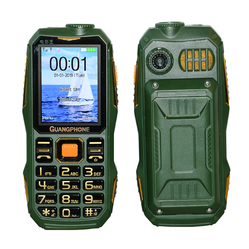 Long Standby For Outdoor Rugged Mobile Phone SOS Dial Black List Large Keyboard Torch Whatsapp Loud Sound Powerbank