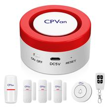 CPVan CP6 WiFi Alarm System Security Home Works with amazon Alexa APP 120db Audible Alarm DIY Wireless Burglar Alarm System Kits 10pcs wireless ch2o formaldehyde detector with audible visual alarm remote alarm with host