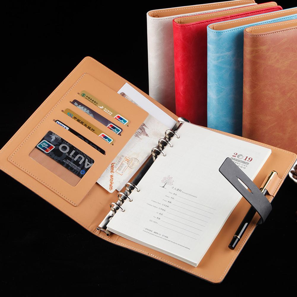 Faux Leather <font><b>Notebook</b></font> <font><b>Spiral</b></font> <font><b>Personal</b></font> Dairy Planner Organizer Notepad Travel Agenda Manager Folder <font><b>notebook</b></font> image