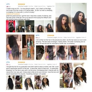 Image 5 - Sapıkça Düz Saç Demetleri Brezilyalı Saç Örgü Demetleri Insan Saç Demetleri 3/4 Mslynn Remy Saç Uzatma Doğal Siyah