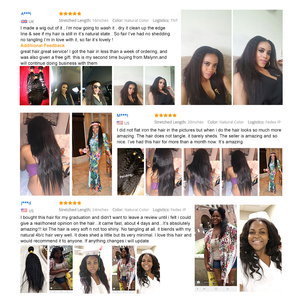 Image 5 - Verworrene Gerade Haar Bundles Brasilianische Haar Weave Bundles Menschliches Haar Bundles 3/4 Mslynn Remy Haar Verlängerung Natürliche Schwarz