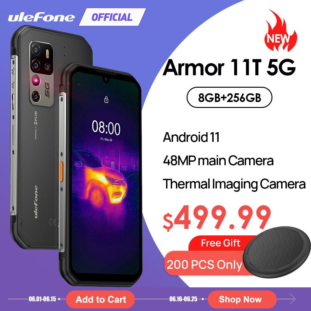 Ulefone Armor 11T 5G прочный мобильный телефон FLIR®Термальность изображений Камера Защищенный Смартфон Android 11 8 Гб 256 Водонепроницаемый мобильный тел...