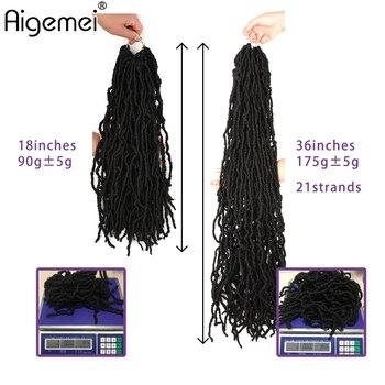 YunRong Nu Locs Crochet Hair 36 24 18 Inches Faux Locs Extension Synthetic Soft Goddess Braiding Dreadlocks Hair For Black Women 5