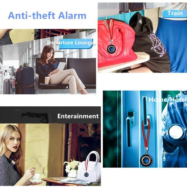 Portable Laser Hidden Camera Finder Anti Spy Camera Detector Anti-Theft Vibration Alarm for Personal Safe K100 5