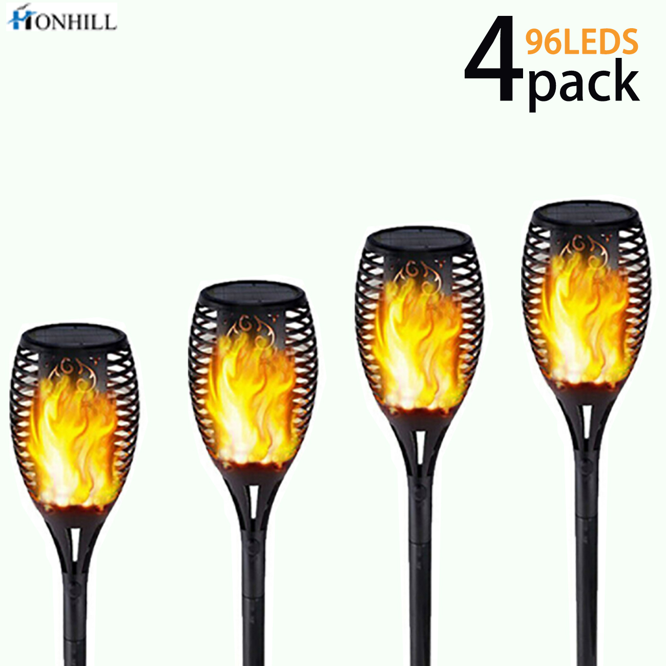 Honhill 33/96 LED Garden Lighting Waterproof Solar Light Automatically Outdoor Landscape Lamp Flame Lights