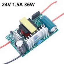 Fonte 12-24v conduziu o motorista 220v à luz 12 v 6- 60w de dc24v 1a para 24v 1a 1.5a conduziu transformadores de luz de energia 12 volts para led