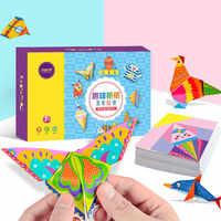 152 teile/satz DIY Pädagogisches Origami Papier Schneiden Buch Handwerk Kinder Handgemachte Spielzeug Kindergarten Spaß Puzzle Baby Kinder Spielzeug Geschenke