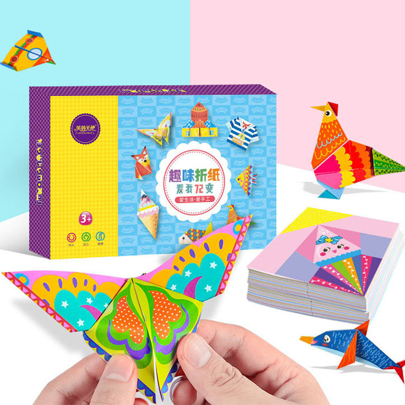152Pcs/set DIY Educational Origami Paper Cutting Book Crafts Children Handmade Toys Kindergarten Fun Puzzle Baby Kids Toy Gifts(China)