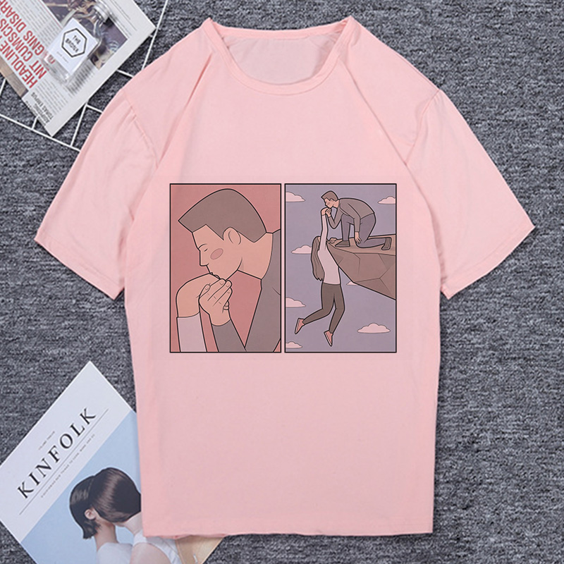 T Shirt Women No One Can Guess The Unexpected Result Funny Summer Casual T-shirt Female Deceptive Style Harajuku Vintage Tshirt
