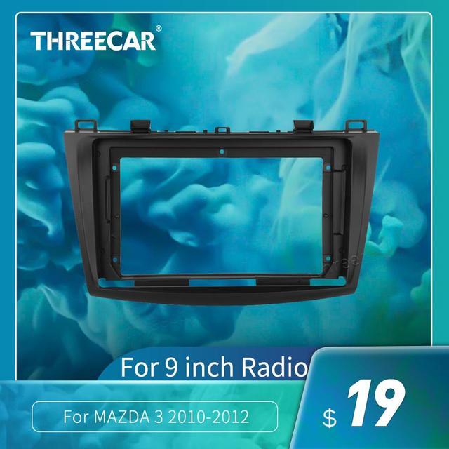2Din Auto Cruscotto Telaio Misura Per MAZDA 3 2010-2012 Car DVD GPS Pannello Dash Kit Telaio di Montaggio Trim lunetta Fasce