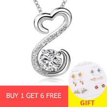 цена на 2018 hot sale 925 sterling silver infinity pendant chain necklace with Cubic Zircon diy fashion jewelry factory supply girl gift
