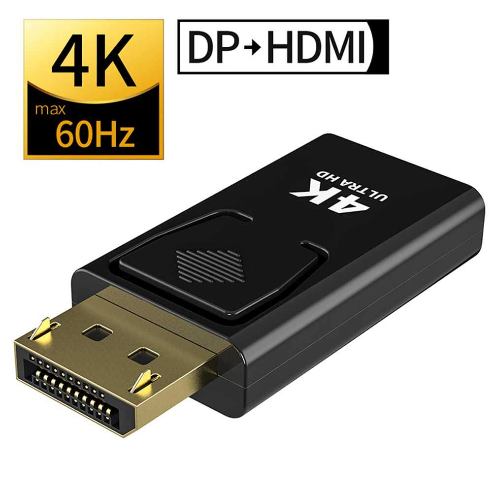 DP To HDMI Max 4K 60Hz Displayport Adapter Female To Male Cable Converter DisplayPort To HDMI Adapter For PC TV Projector
