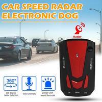 V7 12 v carro detector de radar inglês russo veículo automático digital controle de velocidade alerta voz aviso velocidade controle x k ka banda