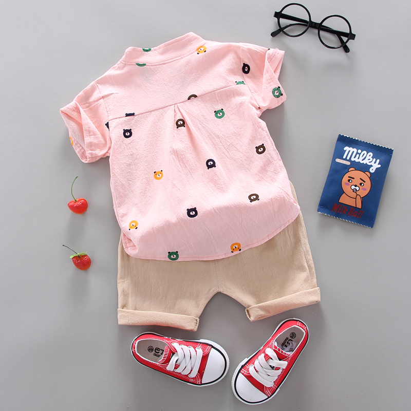 Hot Sale  Boys Clothing Children Summer Boys and girls Clothes Set shit+Pants Kids Girl's Clothing Sets Cotton Sportswear 5