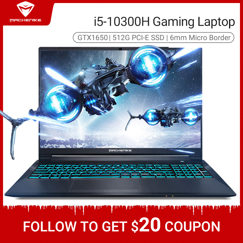 Machenike T58-VA i5 10300H GTX1650 4G Gaming Laptop 2020 8GB RAM 512G SSD 15.6'' Ultra border Backlit keyboard notebook i5