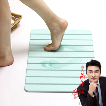 Foldable Diatom Ooze Foot Pad Toilet Bathroom Mats Shower Room Anti-slip Mat Diatomite Water-Absorbing Mat