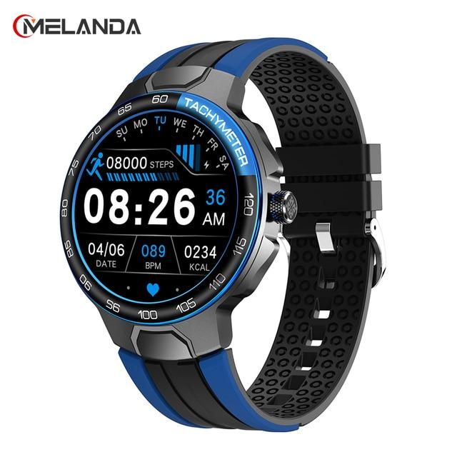 MELANDA New Luxury Smart Watch Men Sport Fitness Tracker IP68 Waterproof Heart Rate 2021 Full Touch Smartwatch for IOS Android 1