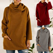 Knitted Sweater Women Office Lady Pullover Knitted Solid Color Long Sleeve Turtleneck Sweater Female Soft Bottom Jumper new(China)
