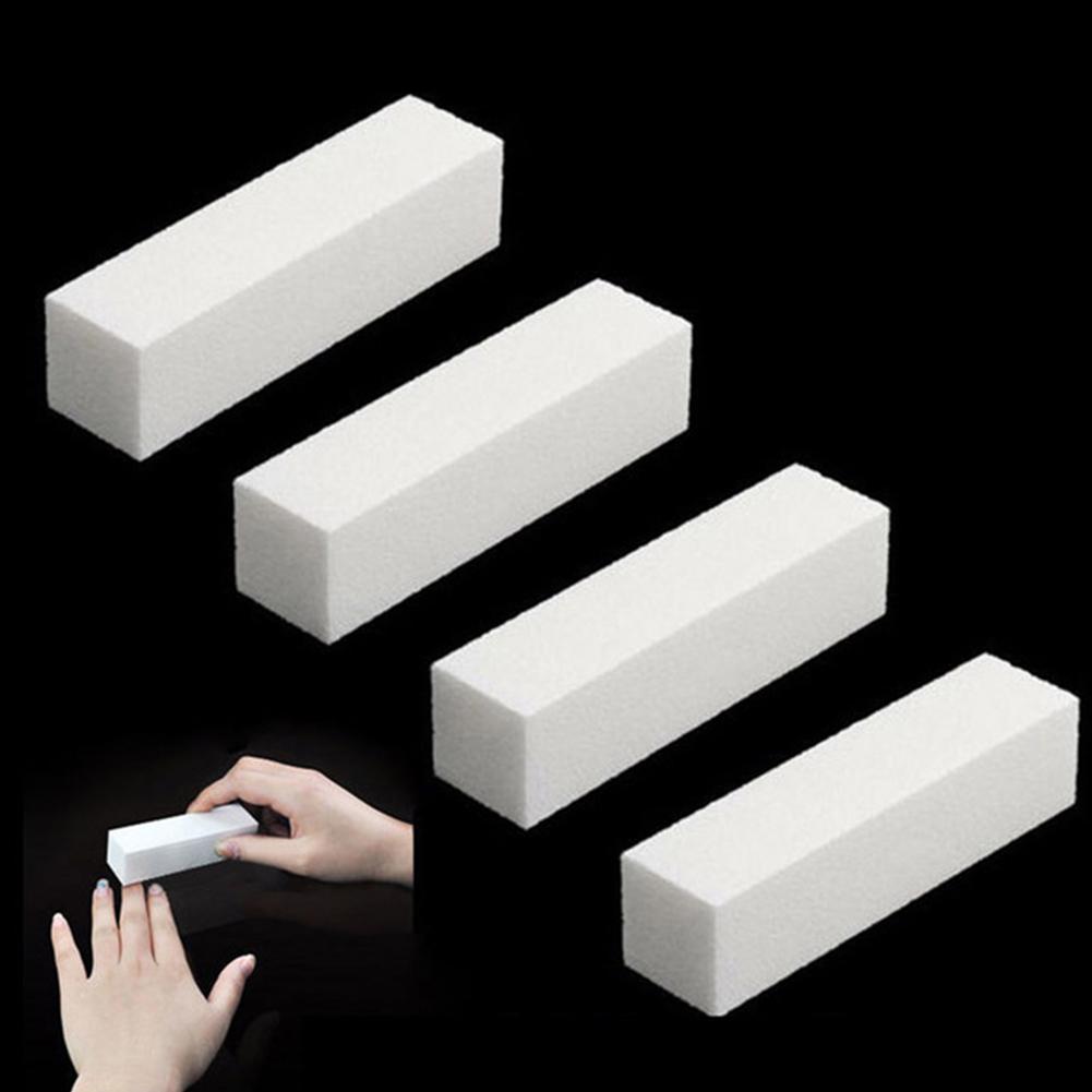 Ferramenta de arte do prego polisher bloco esponja forma diy buffer arquivo buffer bloco polonês manicure pedicure lixa arquivo uv gel branco