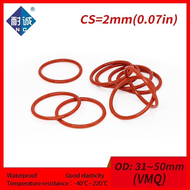 50 St/ück Rot 6mm x 1mm Gummi Nitrilkautschuk O Ring NBR Dichtung Dichtungsringe